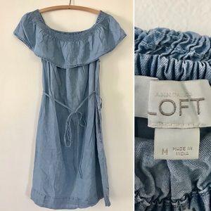 Ann Taylor LOFT denim chambray dress